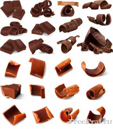 Шоколад в векторе