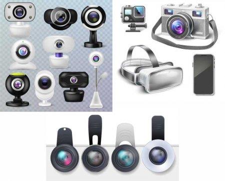 Веб камеры и девайсы в векторе