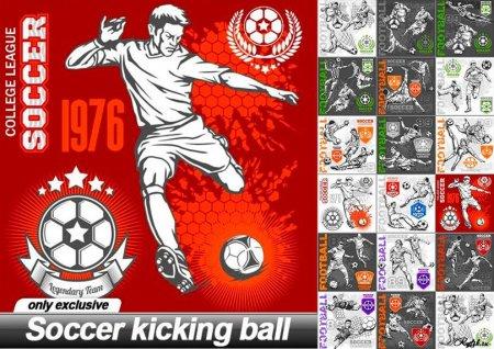Банеры с футболистами в векторе
